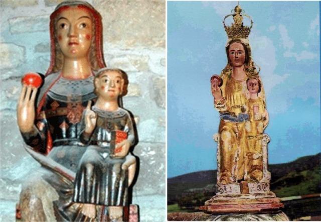 Tallas de la virgen de Cubells (Lerida) y la virgen del Tremedal