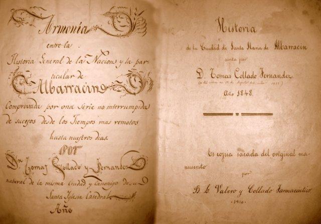 """Guardas libro Tomás Collado """"Historia de Albarracín"""""""