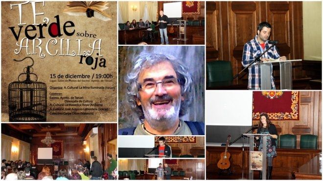 Collage del homenaje a Alberto Villén